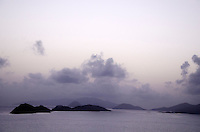 View of the outer cays in Pillsbury Sound<br /> including Thatch Cay, Grass Cay, Lovango Cay as seen from St. Thomas<br /> U.S. Virgin Islands