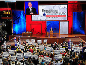 Floor demonstration as Mitt Romney's name is placed in nomination at the 2012 Republican National Convention in Tampa Bay, Florida on Tuesday, August 28, 2012.  .Credit: Ron Sachs / CNP.(RESTRICTION: NO New York or New Jersey Newspapers or newspapers within a 75 mile radius of New York City)