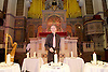 Eve of Holocaust Memorial Day Service at West London Synagogue, London, Great Britain <br /> 26th January 2015 <br /> <br /> Holocaust Memorial candle lit by: <br /> <br /> Peter Tatchell - Speaking Out for Human Rights <br /> <br />  <br /> <br /> <br /> <br /> Photograph by Elliott Franks <br /> Image licensed to Elliott Franks Photography Services