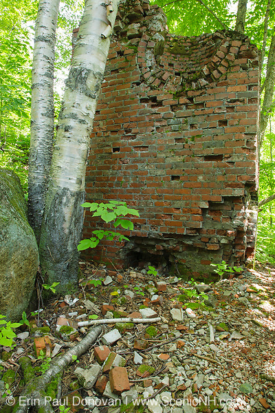 Remnants of the powerhouse in the ghost town of Livermore. This was a logging town in the late 19th and early 20th centuries along the Sawyer River Railroad in Livermore, New Hampshire. The Saunders family owned both the town and railroad.