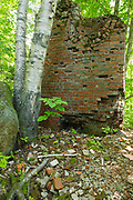 Remnants of the Livermore Mill which was located along the Sawyer River Railroad logging line in Livermore, New Hampshire USA. This was a logging railroad that operated from 1877 - 1928