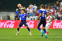 Jermaine Jones of US uses his body to control the ball. USA defeated Peru 2-1 during a Friendly Match at the RFK Stadium in Washington, D.C. on Friday, September 4, 2015.  Alan P. Santos/DC Sports Box