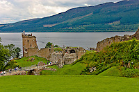 A view of Urquhart Castle on Loch Ness in Scotland