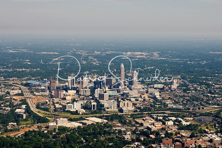 Aerial View Of Charlotte NC