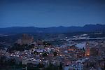 Vista de Caravaca de la Cruz con el Santuario de la Santisima y Vera Cruz. Caravaca de la Cruz. Murcia.