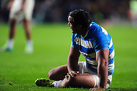 Agustin Creevy of Argentina looks on during a break in play. The Rugby Championship match between Argentina and Australia on October 8, 2016 at Twickenham Stadium in London, England. Photo by: Patrick Khachfe / Onside Images