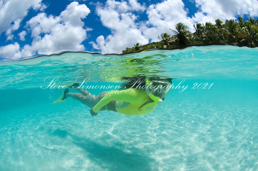 Alexa Putnam snorkeling Little Cinnamon Bay.Virgin Islands National Park.St John, USVI