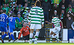 St Johnstone v Celtic..30.10.10  .Emilio Izaguirre slides the ball under Graeme Smith to make it 2-0.Picture by Graeme Hart..Copyright Perthshire Picture Agency.Tel: 01738 623350  Mobile: 07990 594431