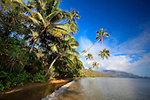 Plage de la côte Est, baie de Port Bouquet, région de Thio, Nouvelle-Calédonie