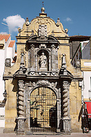 Gate, Church of St. Paul, 13th-14th century, among the numerous churches ordered by Fernando III in memory of the Christian reconquest in 1236. The gate and other sculptured groups were done during the 18th century in Baroque Style, Cordoba, Andalusia, Spain. Picture by Manuel Cohen