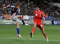 Genki Haraguchi (JPN), Ghazi Alqahadi (KUW), JUNE 19th, 2011 - Football : Genki Haraguchi (L) of Japan kicks a ball in the second half of the Asian men's football qualifiers round 2 for London Olympic game against Kuwait at the TOYOTA Stadium in Aichi prefecture, Japan on June 19, 2011.Japan beats Kuwait 3-1. (Photo by AFLO)