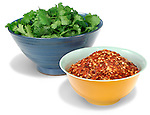 cilantro and red pepper flakes