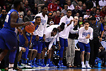 MILWAUKEE, WI - MARCH 18: The Middle Tennessee Blue Raiders bench cheers during the second half of the 2017 NCAA Men's Basketball Tournament held at BMO Harris Bradley Center on March 18, 2017 in Milwaukee, Wisconsin. (Photo by Jamie Schwaberow/NCAA Photos via Getty Images)