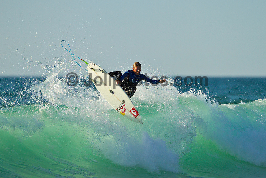 Les Bourdaines, Hossegor/France (Wednesday, September 29, 2010) .Leo Fioravanti (ITA)  free surfing during a session at Les Bourdaines today after the Quiksilver Pro France was called off..Photo: joliphotos.com
