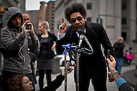 rights activist Cornel West attends a news conference to announce Lawsuit Against the Indefinite Detention Provisions of NDAA in New York, United States. 29/03/2012. Photo by Eduardo Munoz Alvarez  / VIEWpress.