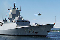 Norwegian Navy frigate KNM Fridtjof Nansen arrives in Oslo for the first time in 2006. The frigate will likely participate in an EU anti-piracy force off Somalia in the second half of 2009.