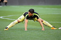 Harrison, NJ - Wednesday July 06, 2016: Javier Guemez during a friendly match between the New York Red Bulls and Club America at Red Bull Arena.