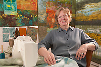 Portrait of fabric artist Ree Nancarow