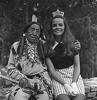 1972 Miss South Dakota, Janet Hunter & Benjamin Black Elk