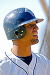 30 June 2007: Vermont Lake Monsters infielder Carlos Alvarez awaits his turn in the batting cage prior to a game against the Lowell Spinners at Historic Centennial Field in Burlington, Vermont. The Spinners defeated the Lake Monsters 8-4 in the last game of their 3-game, NY Penn-League series...Mandatory Photo Credit: Ed Wolfstein Photo