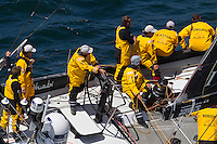 FRANCE, Lorient. 1st July 2012. Volvo Ocean Race, Start Leg 9 Lorient-Galway. Abu Dhabi Ocean Racing.