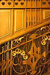 Interior architectural details in Municipal House (Czech: Obecni Dum), a stunning art nouveau landmark civic building in Prague, Czech Republic