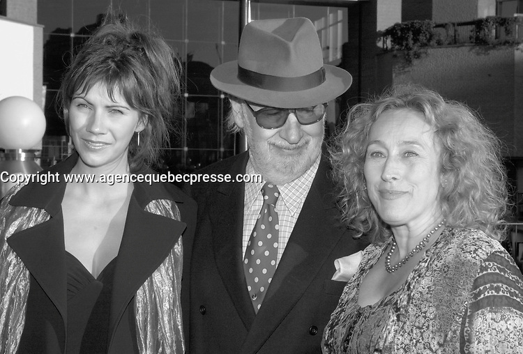sept 8,  2003, Montreal, Quebec, Canada<br /> <br /> Manon Brouillette, actress (L)<br /> French actor Phillipe Noiret  (M)<br /> and Marie Tifo, actress (R)<br /> at the Montreal Premiere of Michel Boujenah P&raquo;RE ET FILS, sept 8 2003<br /> <br /> <br /> Mandatory Credit: Photo by Pierre Roussel- Images Distribution. (&copy;) Copyright 2003 by Pierre Roussel