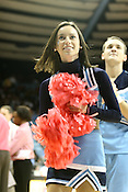 Tarheel cheerleaders in the Pink Zone