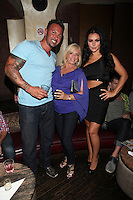 JWOWW,  Linda Torres and Roger Matthews attend Inked Magazine release party celebrating August issue, New York. July 17, 2012 © Diego Corredor/MediaPunch Inc.