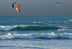 kite surfing at Waddell Beach
