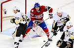 6 February 2010: Montreal Canadiens' rookie center Ryan White in action against the Pittsburgh Penguins at the Bell Centre in Montreal, Quebec, Canada. The Canadiens defeated the Penguins 5-3. Mandatory Credit: Ed Wolfstein Photo