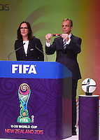 USA. Official Draw for the FIFA U 20 Football World Cup, New Zealand 2015. Sky City, Auckland. Tuesday 10 February 2015. Copyright photo: Andrew Cornaga / www.photosport.co.nz