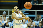 21 December 2013: North Carolina's Nate Britt. The University of North Carolina Tar Heels played the Davidson College Wildcats at the Dean E. Smith Center in Chapel Hill, North Carolina in a 2013-14 NCAA Division I Men's Basketball game. UNC won the game 97-85 in overtime.