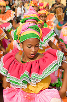Dancers, November Independence festivities, Cartagena de Indias, Bolivar Department, Colombia, South America.