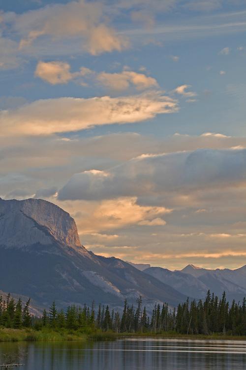 Talbot Lake and the Miette Range in Jasper National Park, ALberta, Canada