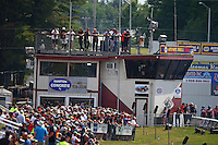Jun 4, 2016; Epping , NH, USA; General view of the timing tower on the starting line during NHRA qualifying for the New England Nationals at New England Dragway. Mandatory Credit: Mark J. Rebilas-USA TODAY Sports