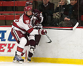 Brendan Rempel (Harvard - 12), Tyson Spink (Colgate - 8) - The Harvard University Crimson defeated the Colgate University Raiders 4-1 (EN) on Friday, February 15, 2013, at the Bright Hockey Center in Cambridge, Massachusetts.