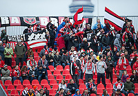 16 April 2011: D.C. United fans show their support during an MLS game between D.C. United and the Toronto FC at BMO Field in Toronto, Ontario Canada..D.C. United won 3-0.