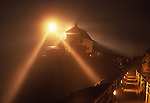 Point Reyes Lighthouse on foggy night