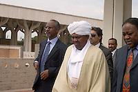 Roma 14 Settembre  2007.Il Presidente del Sudan Omar el-Bashir in visita alla Moschea grande.President Omar el-Bashir.