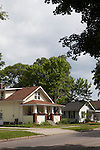 Suburban homes in summertime in Midland, Michigan, MI, USA