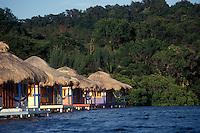 Guest cabins at Mango Creek Lodge on Port Royal Bay,  Roatan, Bay Islands, Honduras