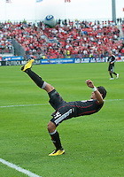 August 21 2010 D.C. United midfielder Andy Najar #14  in action during a game between DC United and Toronto FC at BMO Field in Toronto..DC United won 1-0.