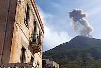 Stromboli, Eolian Islands, Italy, June 2006. Stromboli is quiet for the moment but when she speaks, she will be heard. The Volcanic Eolian Islands of Southern Italy offer a spectacular landscape for trekking while staying in picturesque towns. Photo by Frits Meyst/Adventure4ever.com