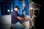 SACRAMENTO, CA - DECEMBER 2:   NorthWoods subcontractor Doug Joellenbeck repairs mold damage in a foreclosed home in Sacramento, California December 2, 2008. Many foreclosed homes need substantial repairs before going on the market. (Photo by Max Whittaker/Getty Images)