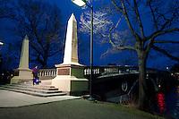 John Weeks bridge over Charles River in Boston and Cambridge, MA