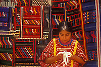 Young indigenous woman artisan in the market, Oaxaca City, Mexico