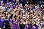 08 November 2013: High Point fans. The University of North Carolina Greensboro Spartans played the High Point University Panthers in a 2013-14 NCAA Division I men's college basketball game at the Greensboro Coliseum in Greensboro, North Carolina. UNCG won the game 82-74.