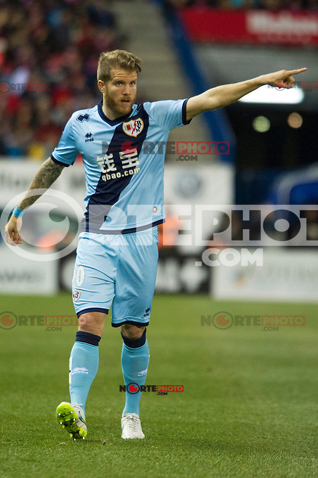 Rayo Vallecano&acute;s Jorge Garcia Morcillo during 2014-15 La Liga match between Atletico de Madrid and Rayo Vallecano at Vicente Calderon stadium in Madrid, Spain. January 24, 2015. (ALTERPHOTOS/Luis Fernandez) /NortePhoto<br />