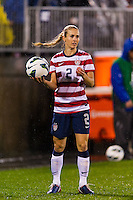 Heather Mitts (2) of the United States (USA). The United States (USA) and Germany (GER) played to a 2-2 tie during an international friendly at Rentschler Field in East Hartford, CT, on October 23, 2012.